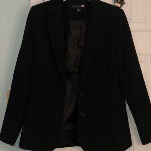 LIKE NEW! Pre-loved Forever 21 black blazer